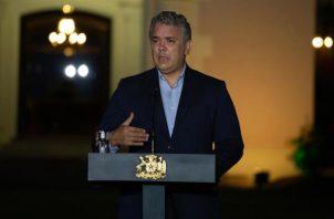 El mandatario colombiano, Iván Duque. EFE