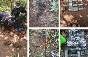 Decomisan armas, dinero y municiones en Felipillo. Foto: Cortesía