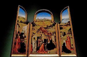 """La obra """"Tríptico de La Adoración a los Magos"""", del pintor Jheronimus van Aken, el Bosco. EFE"""