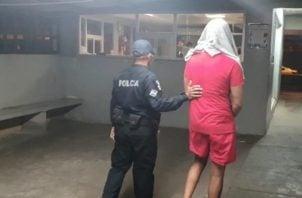La detención de la segunda persona ocurrió en el sector del Progreso,  corregimiento de Cativá.