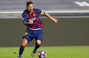 Messi, capitán del Barcelona. Foto:EFE