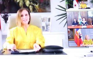 Encuentro virtual de primeras damas.