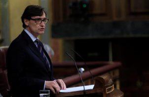 El ministro de Sanidad, Salvador Illa, durante su intervención en el pleno. Foto: EFE