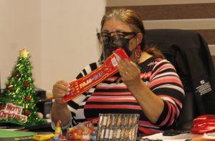 La directora de promoción de la Salud, Gabriela García, se refirió a las quemaduras de pirotecnia.