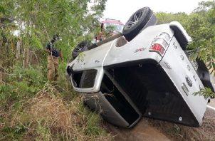 Este fin de semana, se registraron tres accidentes en diversos puntos de la vía, con el saldo de varias personas heridas.