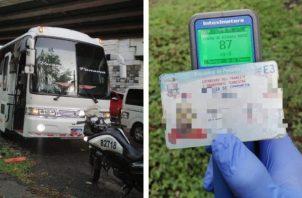 Sorprenden a conductor de transporte público bajo los efectos del alcohol. Foto/Redes