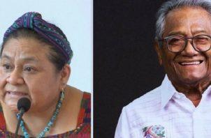 Rigoberta Menchú y Armando Manzanero. Archivo