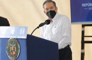 El presidente Laurentino Cortizo hizo el anuncio en el Centro de Operaciones del Plan Panamá Solidario.