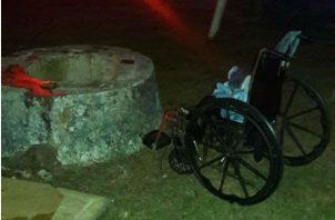 Vista de lo profundo del pozo brocal de donde fue extraido el cadáver. Foto:Melquiades Vásquez A.