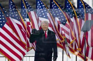 Donald Trump insiste en que le robaron las elecciones. Foto: EFE