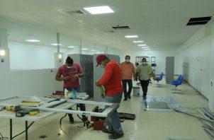 Los trabajos iniciaron en el mes de diciembre, dos semanas antes de concluir el año 2020 por parte del Ministerio de Salud (Minsa).