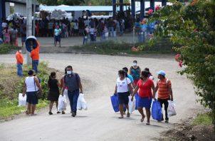 La Dirección de Asistencia Social del Despacho de la Primera Dama donó alimentos y artículos de primera necesidad a más de 500 familias en el Valle de Riscó. Foto cortesía
