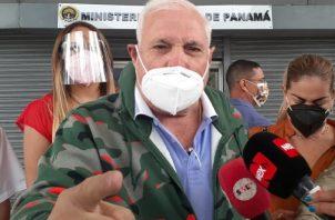Expresidente de la República, Ricardo Martinelli cumple con medida de notificación. Foto: Víctor Arosemena