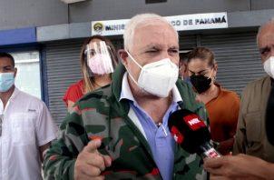 Ricardo Martinelli, expresidente de la República, a su salida ayer del edificio Avesa.