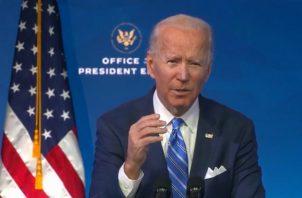 Joe Biden piensa que puede unir a Estados Unidos. Foto: EFE