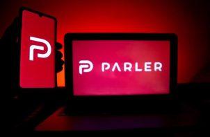Logo de la red social Parler.