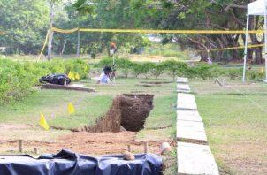 Las exhumaciones en el Jardín de Paz, el año pasado, comenzaron en enero. Foto de archivo