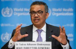 Tedros Adhanom Ghebreyesus es el director general de la OMS. Foto: EFE