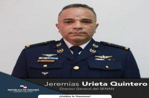 El comisionado aviador Jeremías Guillermo Urieta Quintero ha sido ha sido oficial de la Seguridad del Aeropuerto Internacional de Tocumen, director nacional de Docencia, entre otros cargos que ha ocupado.