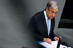 Secretario general de la ONU, António Guterres.