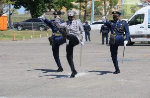 La ceremonia de cambio de mando se realizó en la sede de la Policía.