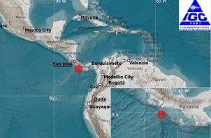 Un segundo sismo de mayor magnitud se registró a eso de las 7:41 de la mañana, de 5.6 en el sector de Punta Burica, en el occidente chiricano, a 9 kilómetros de profundidad.