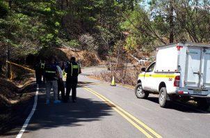 El cuerpo de Milcia Ábrego fue encontrado en la vía a Chiriquicito, distrito de Gualaca. Foto: José Vásquez