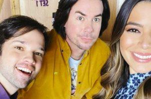 Nathan Kress, Jerry Trainor y Miranda Cosgrove. Foto: Instagram