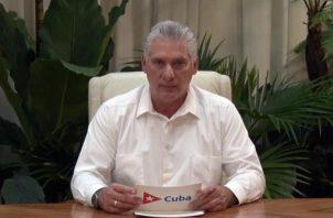 Presidente de Cuba, Miguel Diaz-Canel.