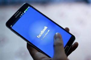 Vista del logo de Facebook.