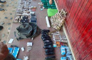 Mercancía incautada durante el mes de enero en perímetro de La Joyita. Foto: Cortesía