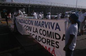 Los pescadores protestaron ayer en todo el país. Foto de Víctor Arosemena