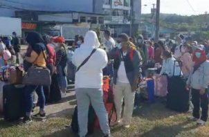 Sólo unos 150 nicaragüenses aparecían en el listado que permite la salida desde Panamá a Costa Rica. Foto: Mayra Madrid