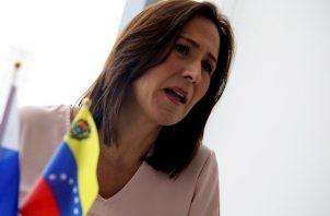 Fabiola Zavarce, exrepresentante en Panamá del presidente interino de Venezuela Juan Guaidó. EFE
