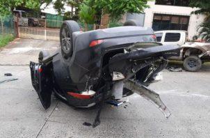 Vuelco y homicidio en Hato Pintado. Foto:@TráficoCPanamá