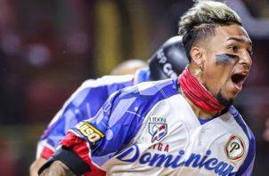 Johan Camargo conectó un cuadrangular en la final de la Serie del Caribe, entre Águilas Cibaeñas y Criollos de Caguas. CamargoPower