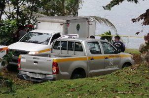 El carro fúnebre del Ministerio Público llegó al lugar para trasladar el cuerpo. Foto: Diómedes Sánchez
