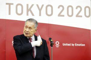 Yoshiro Mori, presidente de los juegos olímpicos de Tokio 2020. Foto:EFE