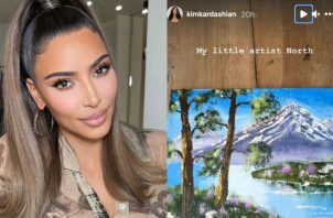 Kim Kardashian presumió la pintura que hizo North en Instagram. Fotos: Instagram / @kimkardashian