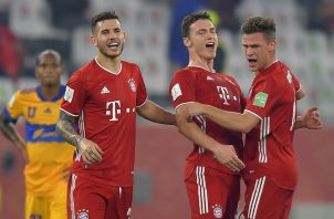 Benjamin Pavard marcó el único tanto del Bayern para quedarse con el título. Foto: EFE