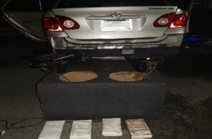 En Portobelo, la droga fue encontrada dentro de las bocinas de un auto.