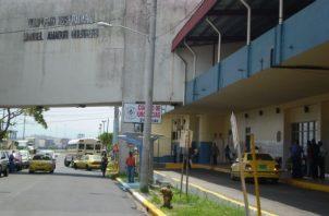 El herido fue atendido en el Hospital Dr. Manuel Amador Guerrero de Colón. Foto: Diómedes Sánchez