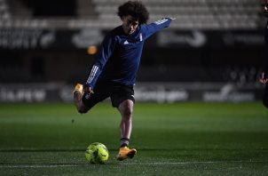 Carrasquilla entrenando con el FC Cartagena Foto: EFE