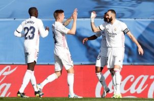 Benzema y Kroos le dieron el triunfo al Real Madrid el pasado domingo ante el Valencia por 2-0. Foto: @realmadriden