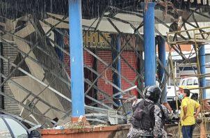 Una ronda policial Lince acudió al área en labor de vigilancia. Foto: Diómedes Sánchez