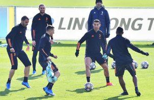 La Juventus prepara su partido de octavos de final ante el Porto de Portugal. Foto: EFE
