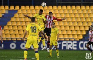 Escoba no jugaba con el Alcorcón desde el 20 de diciembre de 2020. Foto: @AD_Alcorcon