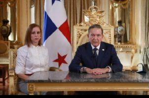 Presidente Laurentino Cortizo ofreció mensaje a la nación.