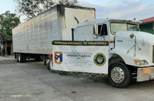 El camión mantenía en su estructura un doble fondo para ocultar drogas. Foto: Mayra Madrid