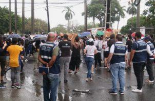 Advierten represión policial en protesta contra los abusos de los menores de edad. Foto: Cortesía